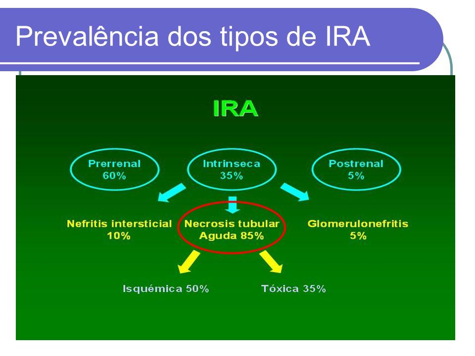 Prevalência dos tipos de IRA