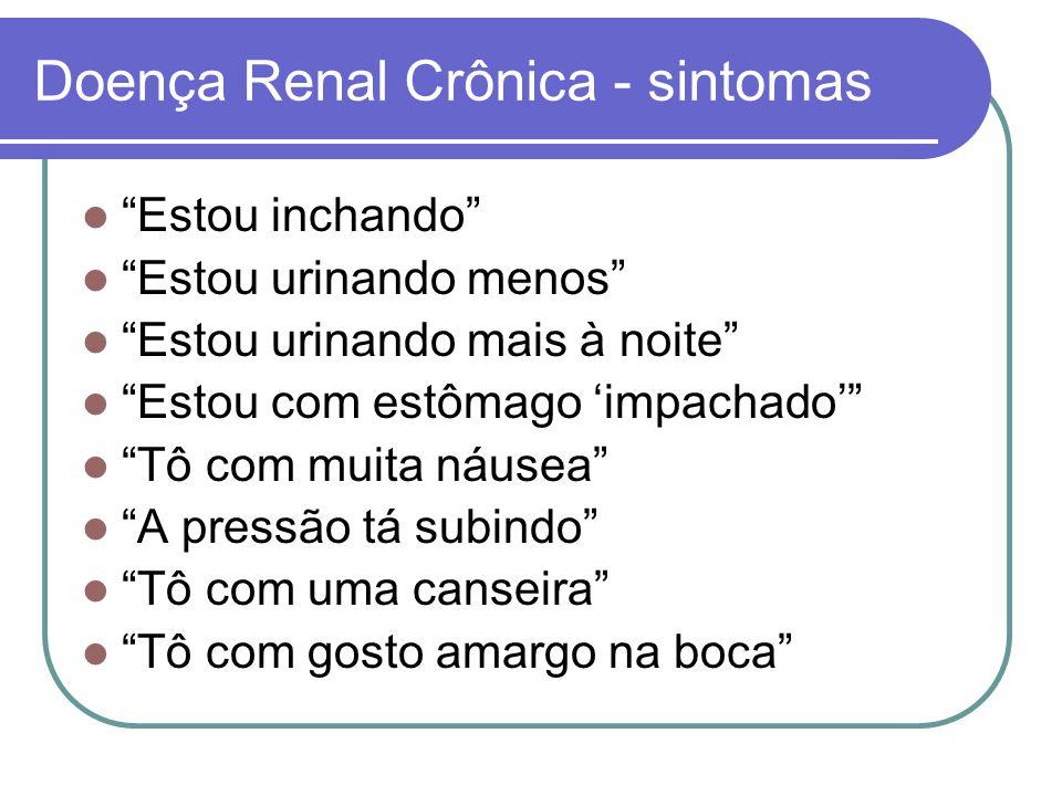 Doença Renal Crônica - sintomas