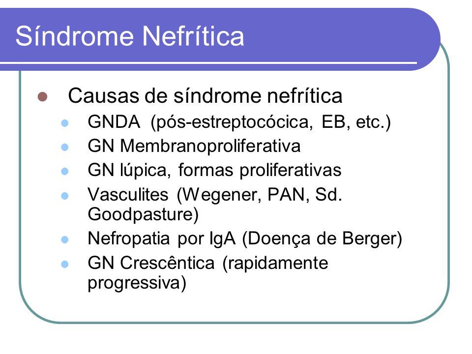 Síndrome Nefrítica Causas de síndrome nefrítica