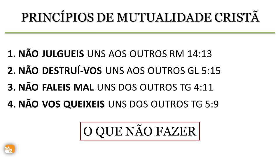 PRINCÍPIOS DE MUTUALIDADE CRISTÃ