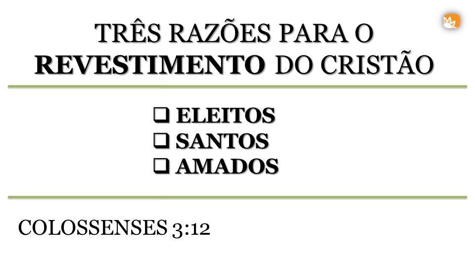 TRÊS RAZÕES PARA O REVESTIMENTO DO CRISTÃO