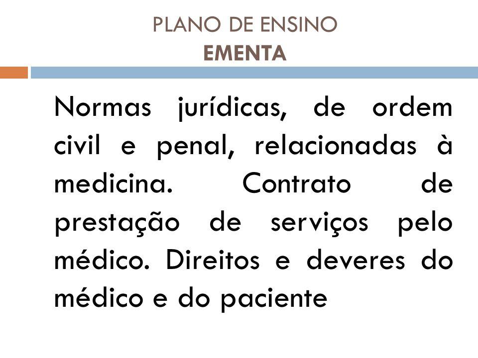 PLANO DE ENSINO EMENTA