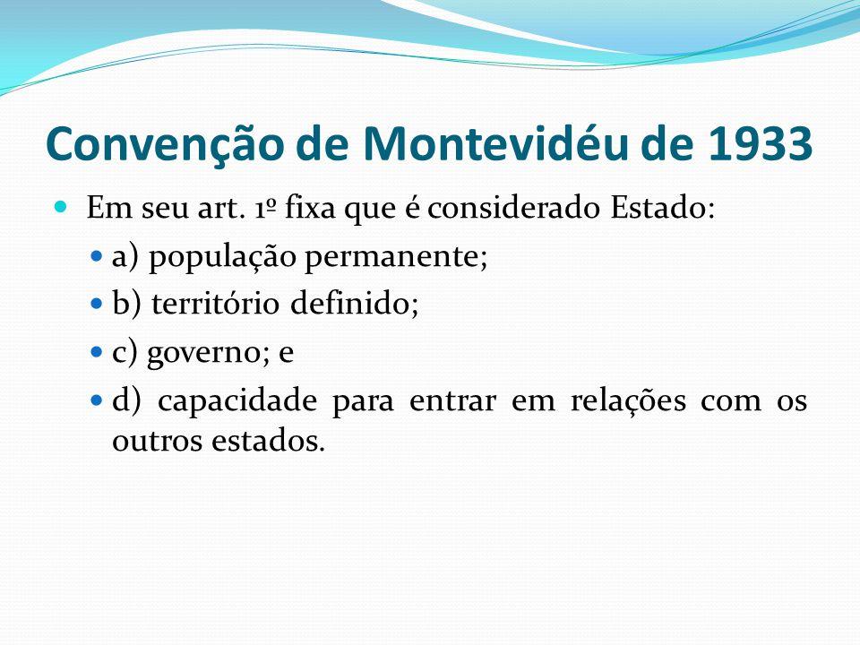 Convenção de Montevidéu de 1933