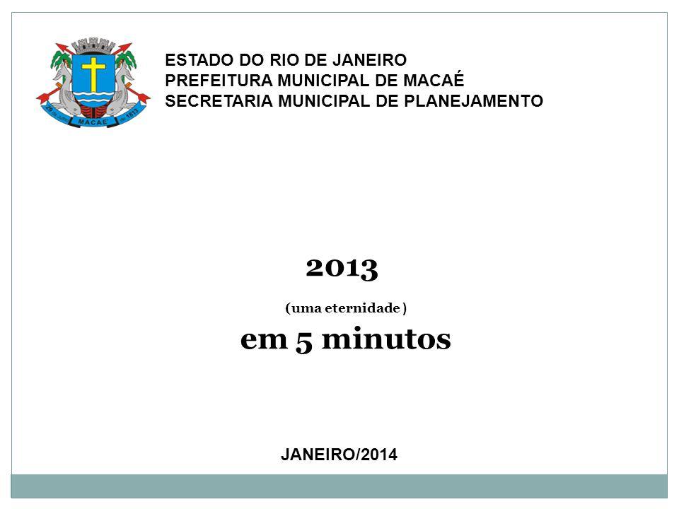 2013 (uma eternidade ) em 5 minutos Estado do Rio de Janeiro