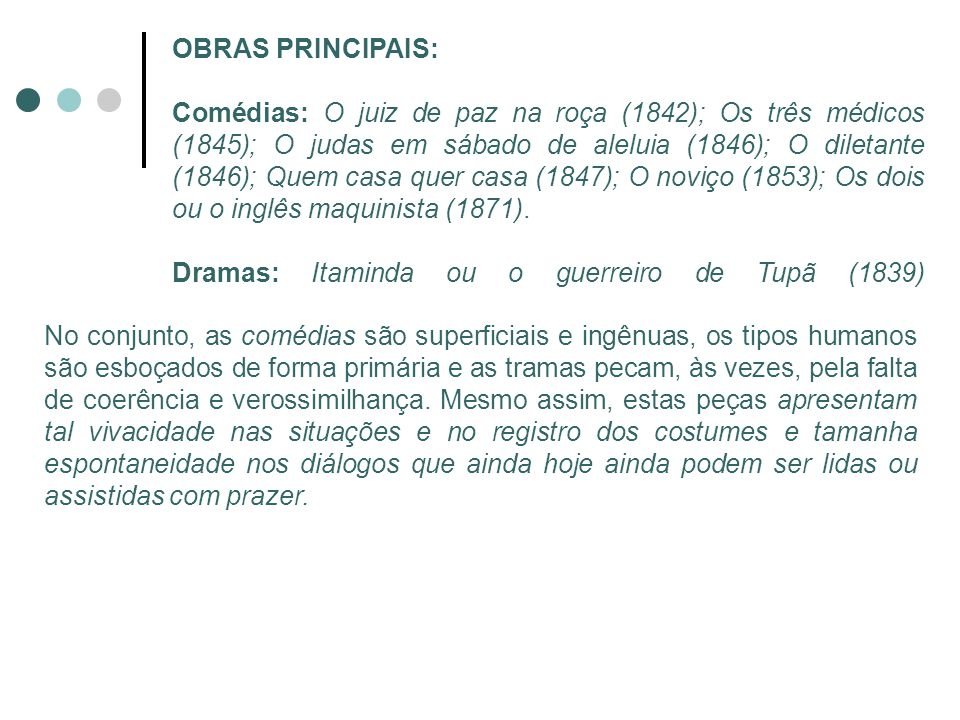 OBRAS PRINCIPAIS: