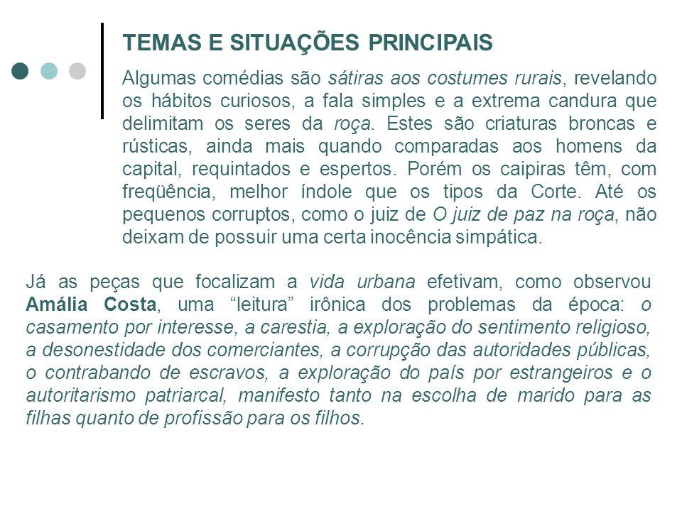 TEMAS E SITUAÇÕES PRINCIPAIS