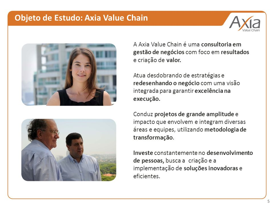 Objeto de Estudo: Axia Value Chain