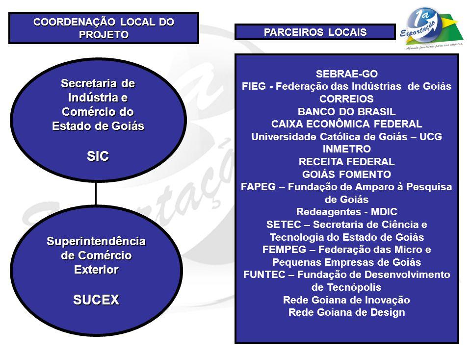 SIC SUCEX Secretaria de Indústria e Comércio do Estado de Goiás