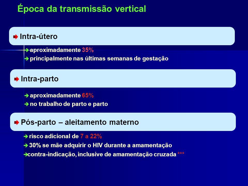 Época da transmissão vertical