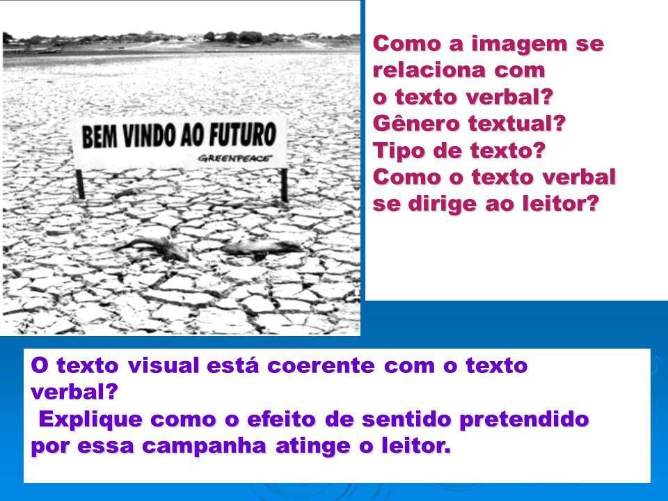 O texto visual está coerente com o texto verbal
