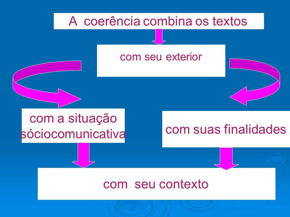 A coerência combina os textos