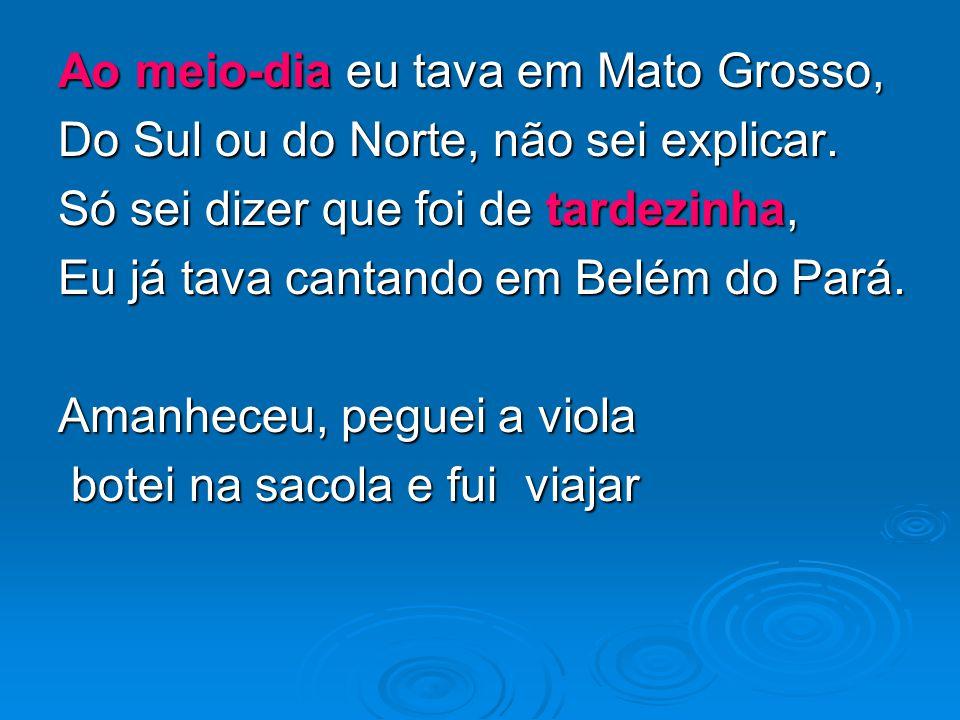 Ao meio-dia eu tava em Mato Grosso,