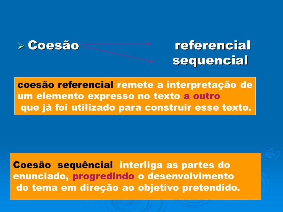 Coesão referencial sequencial