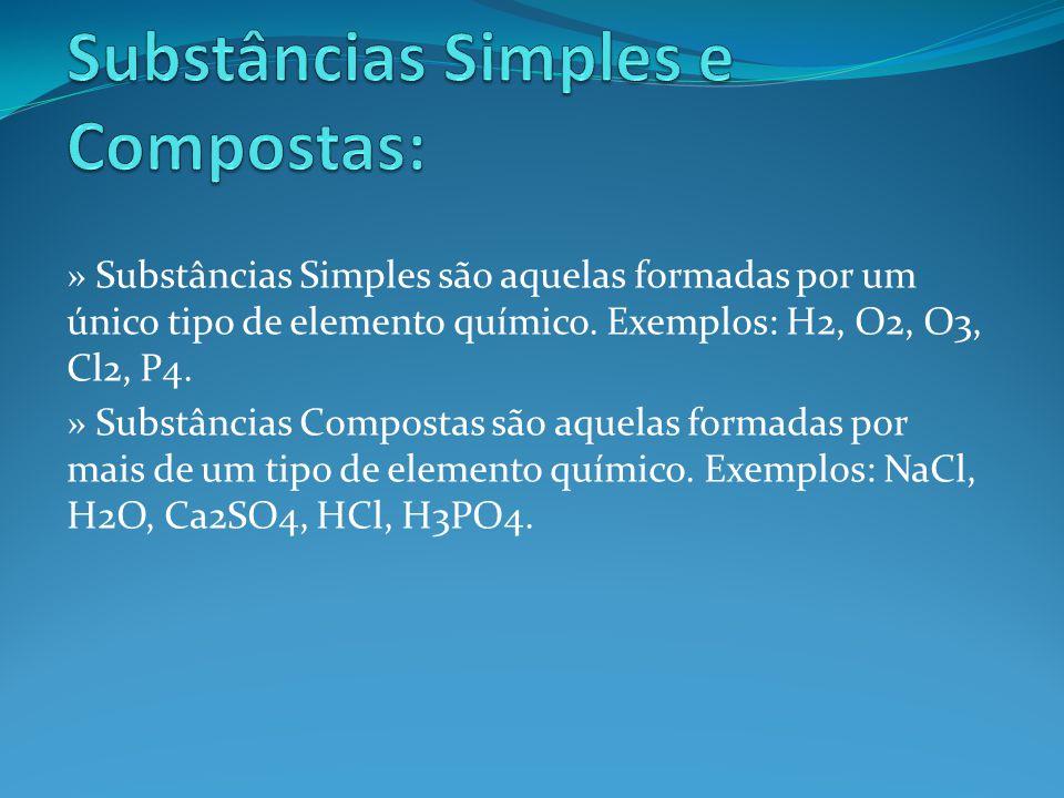 Substâncias Simples e Compostas: