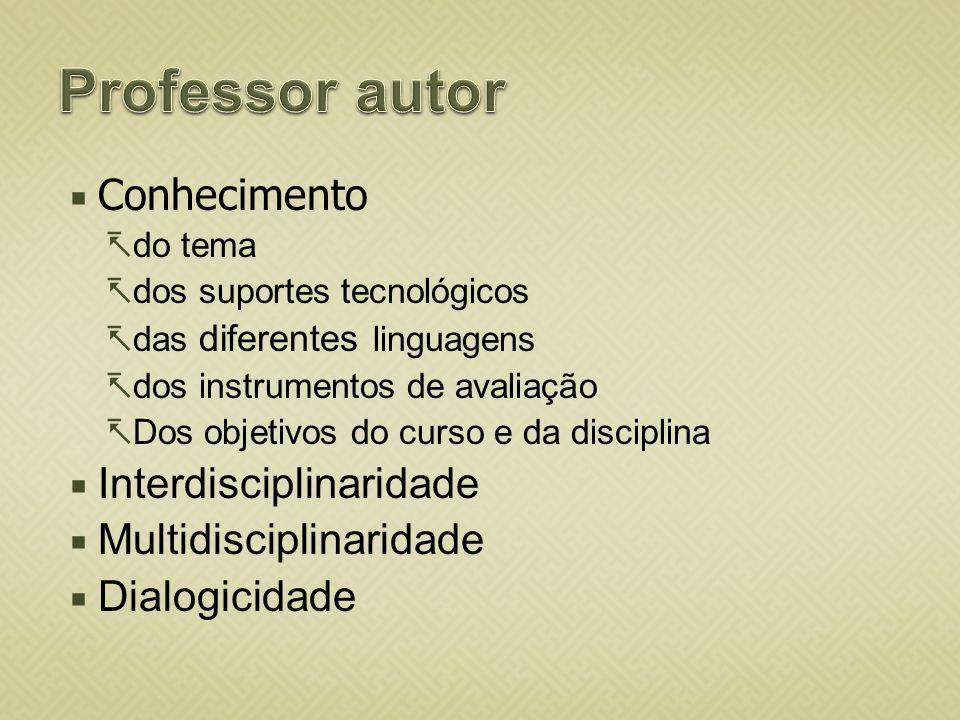 Professor autor Conhecimento Interdisciplinaridade