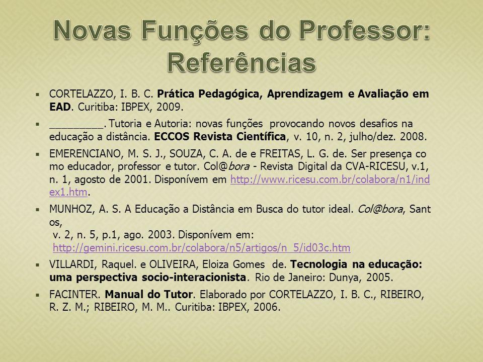 Novas Funções do Professor: Referências