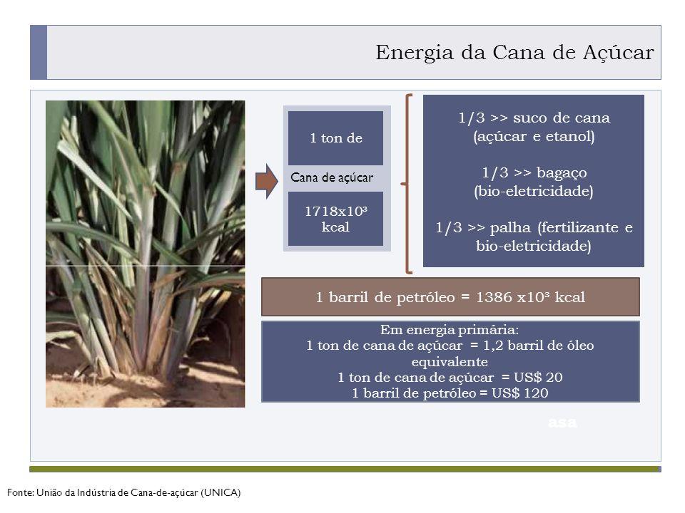 Fonte: União da Indústria de Cana-de-açúcar (UNICA)