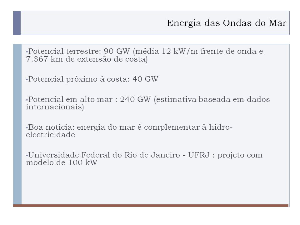 Energia das Ondas do Mar