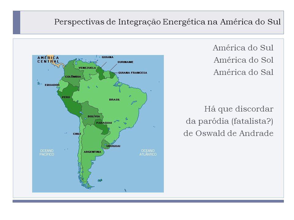 Perspectivas de Integração Energética na América do Sul