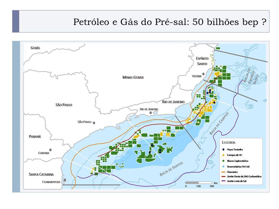 Petróleo e Gás do Pré-sal: 50 bilhões bep