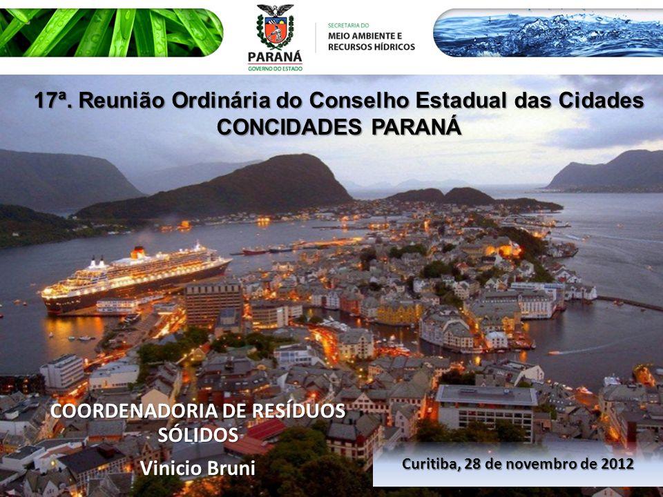 17ª. Reunião Ordinária do Conselho Estadual das Cidades