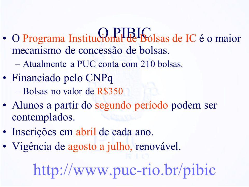 http://www.puc-rio.br/pibic O PIBIC