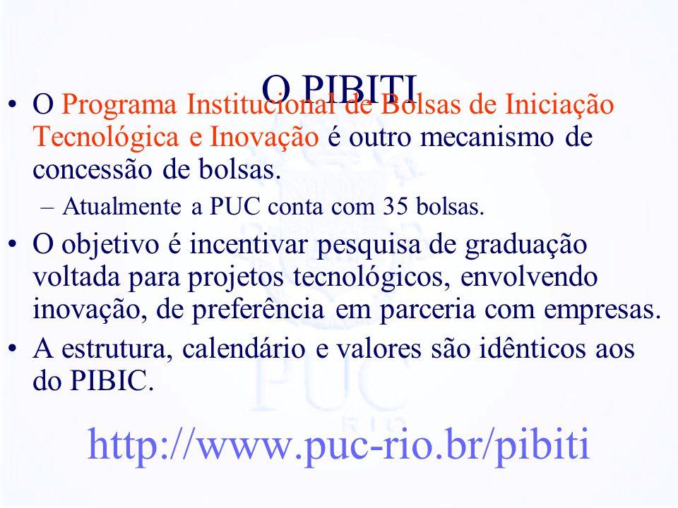 http://www.puc-rio.br/pibiti O PIBITI