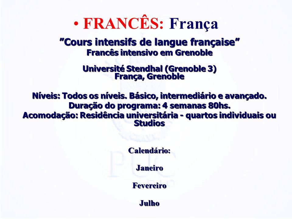 FRANCÊS: França Cours intensifs de langue française