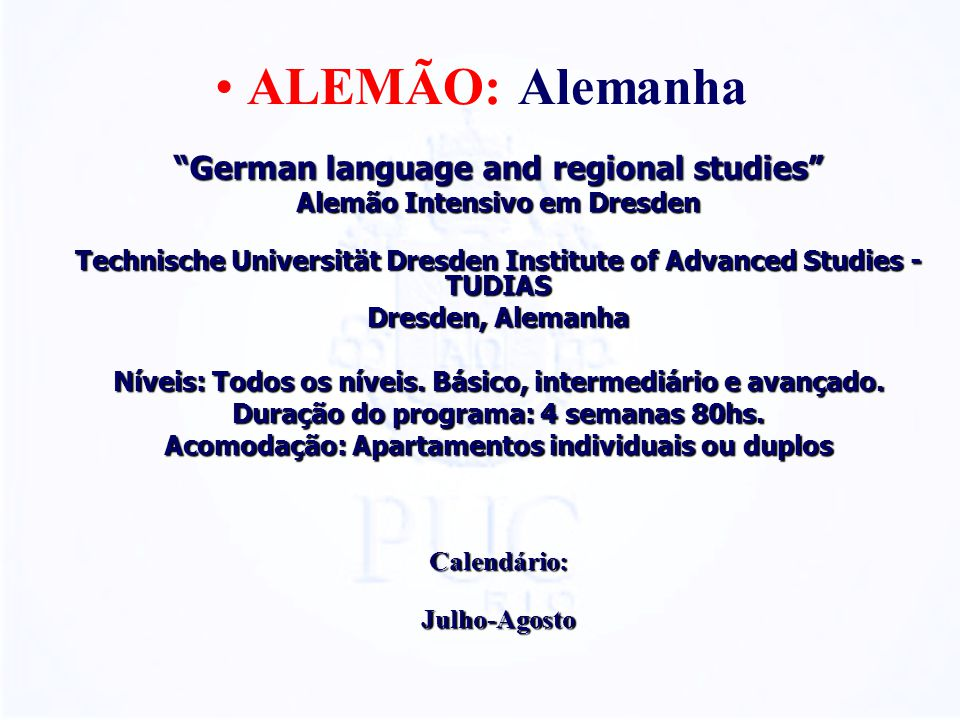 ALEMÃO: Alemanha German language and regional studies