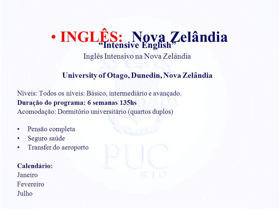 University of Otago, Dunedin, Nova Zelândia