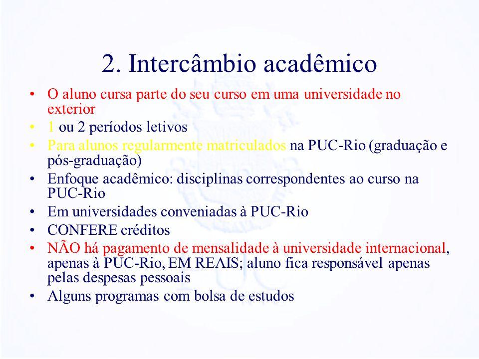 2. Intercâmbio acadêmico