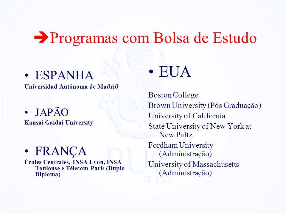 Programas com Bolsa de Estudo