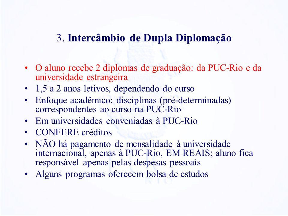 3. Intercâmbio de Dupla Diplomação