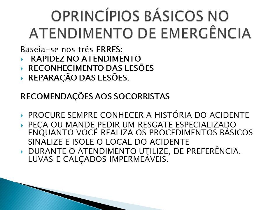 OPRINCÍPIOS BÁSICOS NO ATENDIMENTO DE EMERGÊNCIA