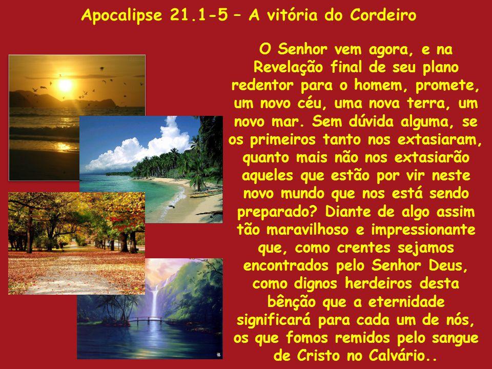 Apocalipse 21.1-5 – A vitória do Cordeiro