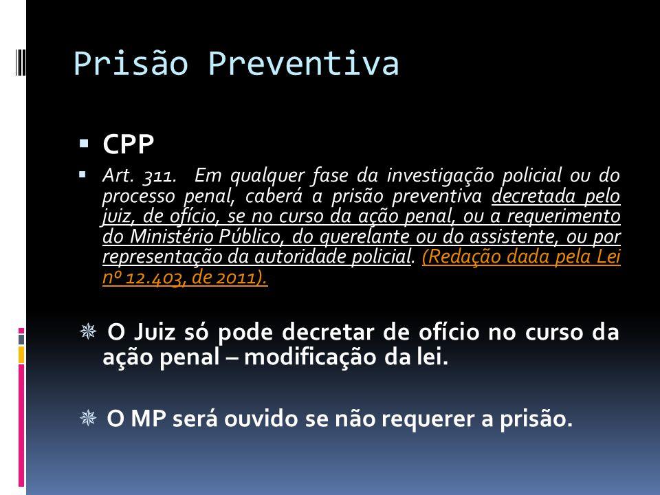Prisão Preventiva CPP