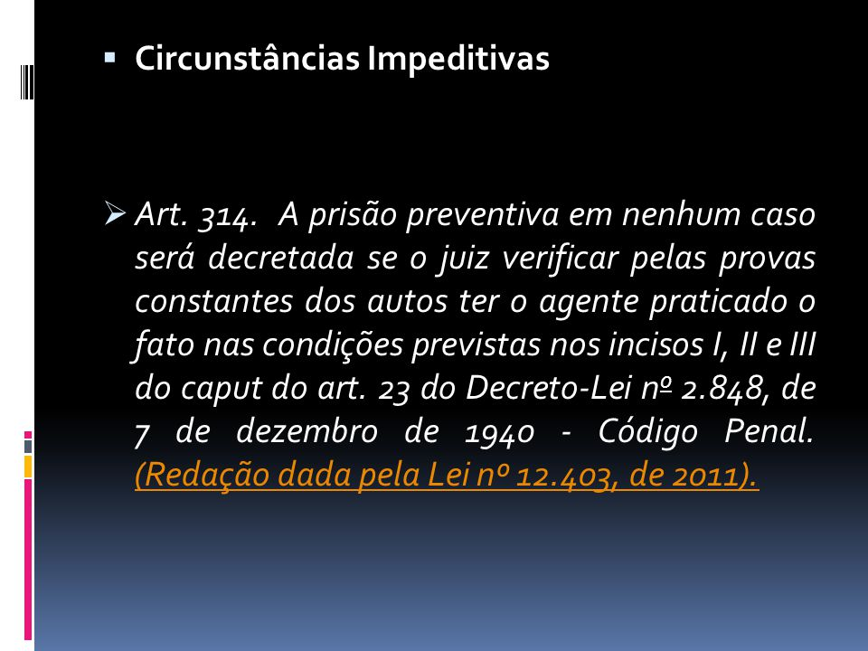 Circunstâncias Impeditivas