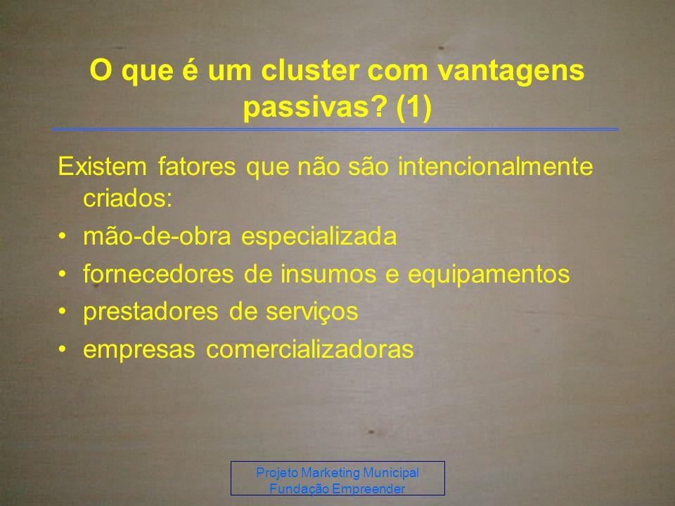 O que é um cluster com vantagens passivas (1)