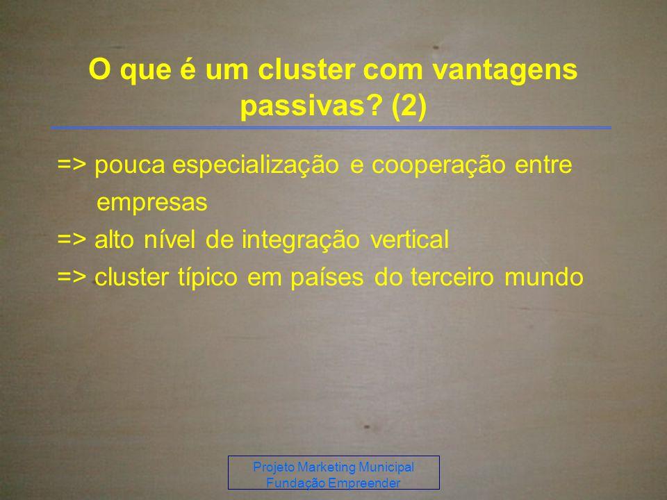 O que é um cluster com vantagens passivas (2)