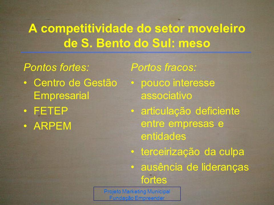 A competitividade do setor moveleiro de S. Bento do Sul: meso