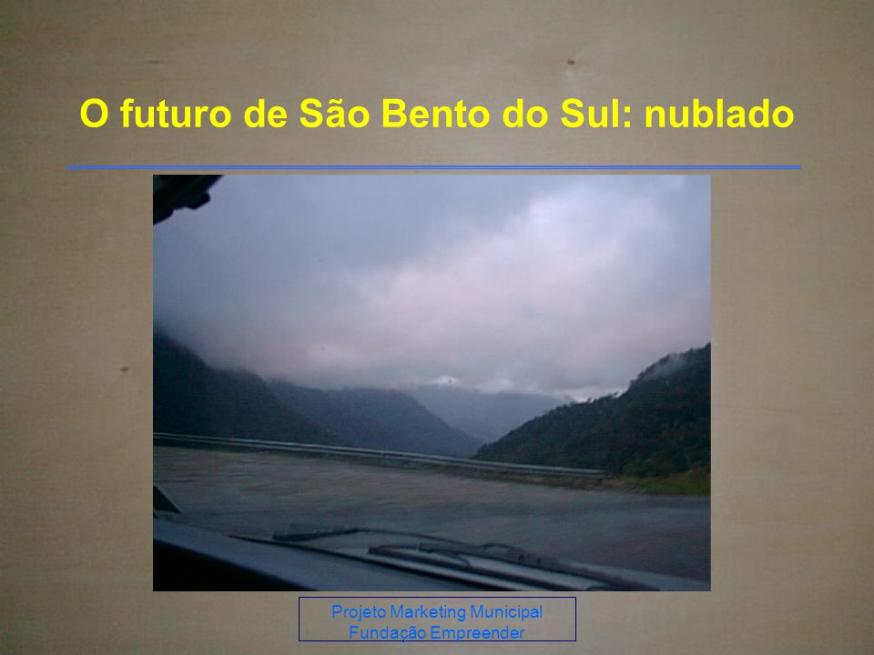 O futuro de São Bento do Sul: nublado