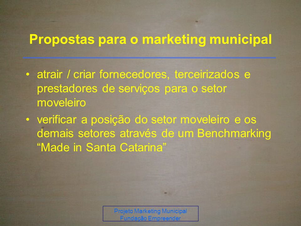 Propostas para o marketing municipal