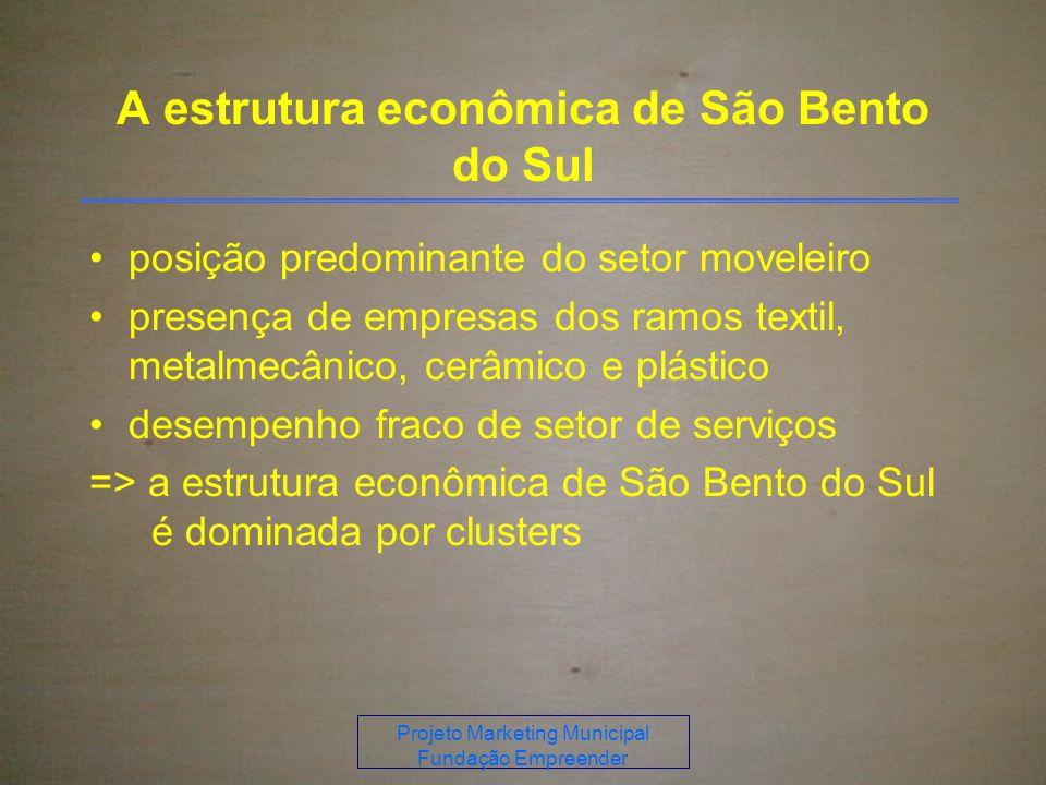 A estrutura econômica de São Bento do Sul