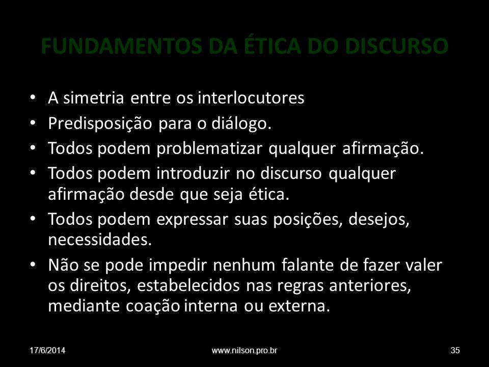 FUNDAMENTOS DA ÉTICA DO DISCURSO