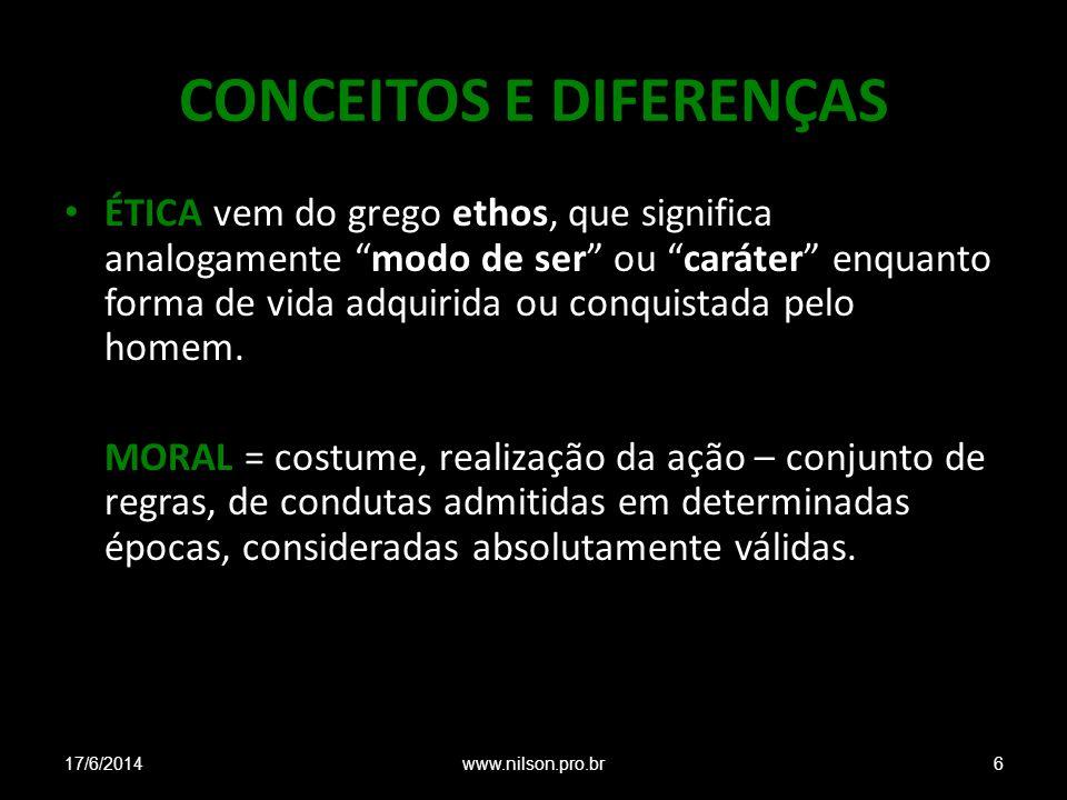 CONCEITOS E DIFERENÇAS