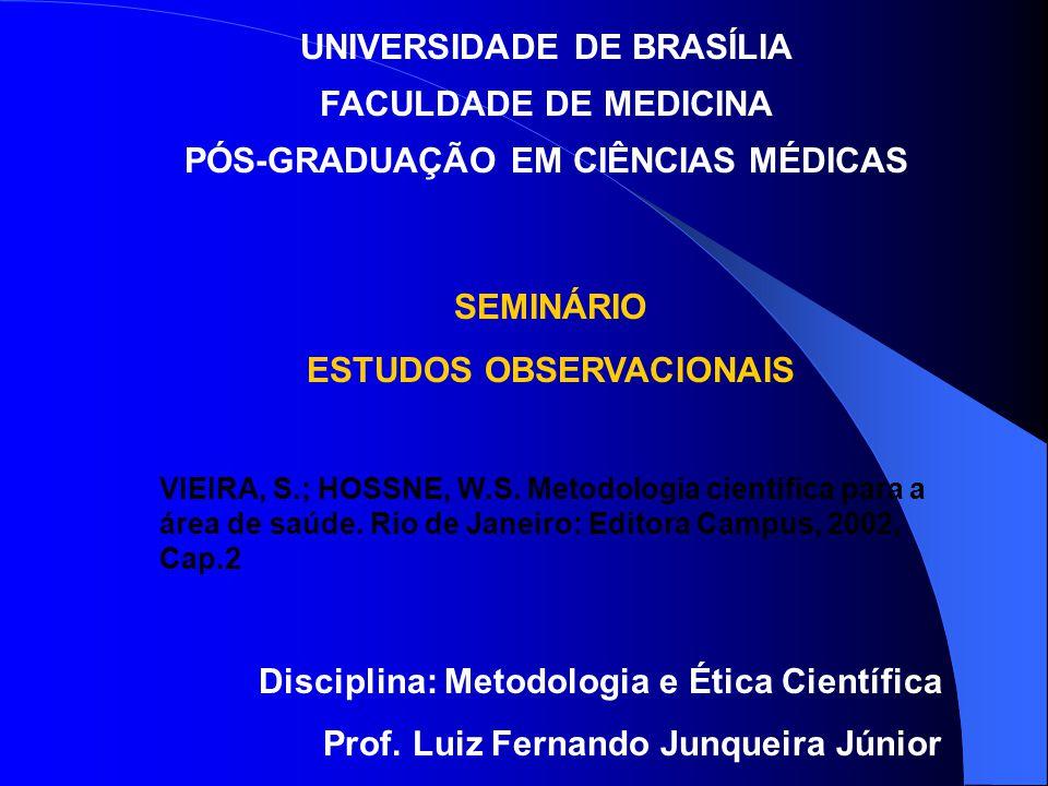 UNIVERSIDADE DE BRASÍLIA FACULDADE DE MEDICINA