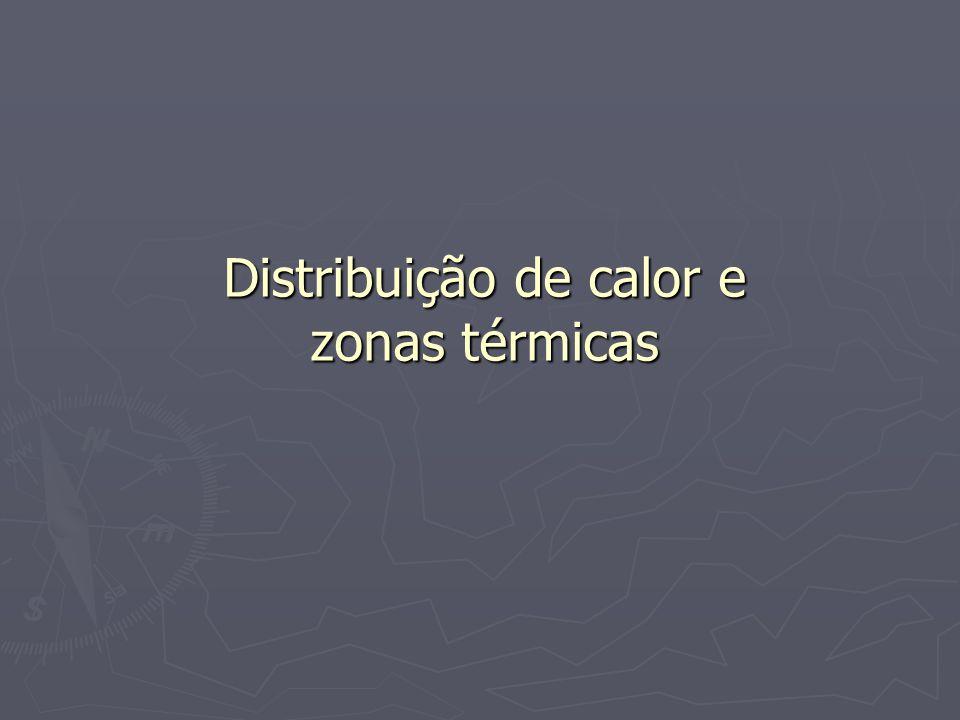 Distribuição de calor e zonas térmicas