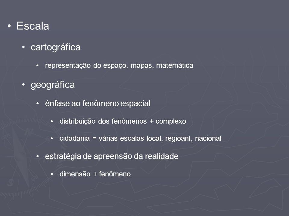 Escala cartográfica geográfica ênfase ao fenômeno espacial
