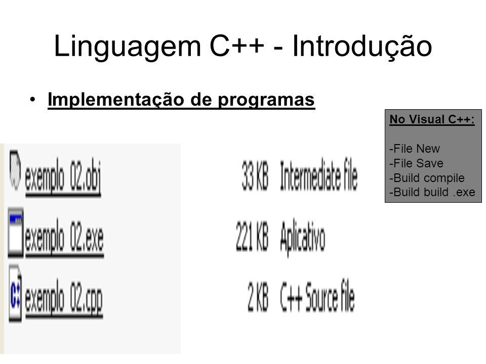Linguagem C++ - Introdução
