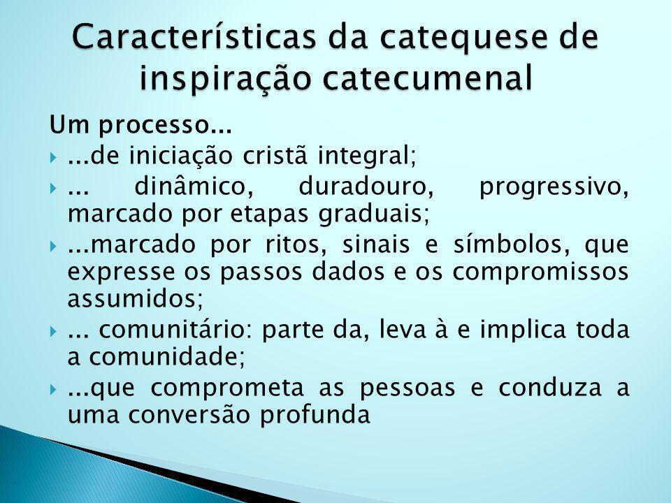 Características da catequese de inspiração catecumenal
